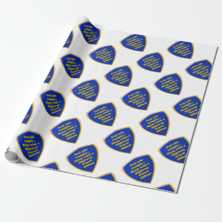 Highway Patrol Officer Wrapping Paper