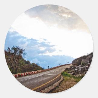 Highway to heaven round sticker