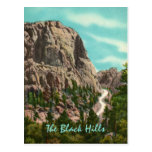 Highway to Mt. Rushmore Vintage Postcard