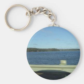 Highway Water Scene Key Ring