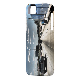 highway with blue semi truck iPhone 5 case