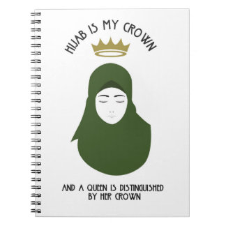 Hijab is my crown - AVOCADO Spiral Notebook