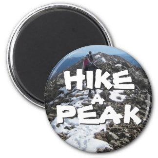 Hike a Peak 6 Cm Round Magnet