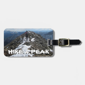 Hike a Peak Luggage Tag
