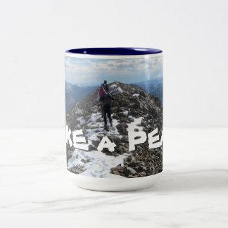 Hike a Peak Two-Tone Coffee Mug
