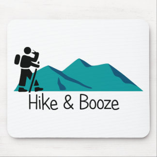 hike and booze mouse pad