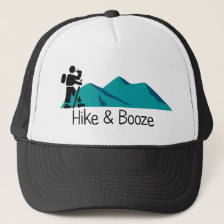 hike and booze trucker hat