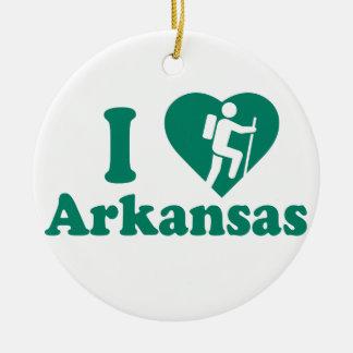 Hike Arkansas Ceramic Ornament