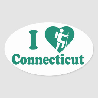 Hike Connecticut Oval Sticker
