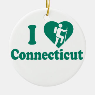 Hike Connecticut Round Ceramic Decoration