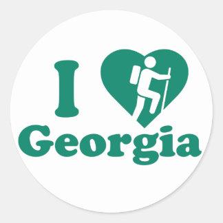 Hike Georgia Classic Round Sticker