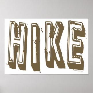 Hike, Hiker, Hiking Poster
