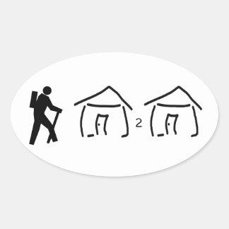 Hike Hut to Hut Oval Sticker