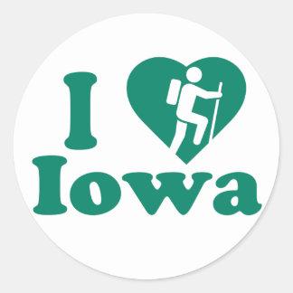 Hike Iowa Classic Round Sticker