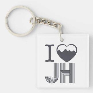 HIKE Jackson hole Single-Sided Square Acrylic Key Ring