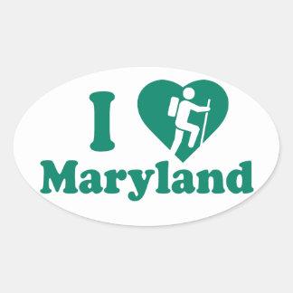 Hike Maryland Oval Sticker