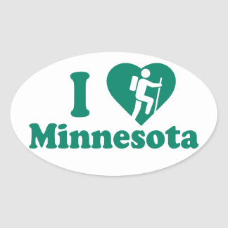Hike Minnesota Oval Sticker
