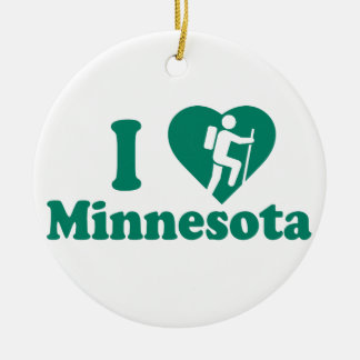 Hike Minnesota Round Ceramic Decoration