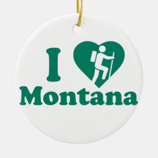 Hike Montana Round Ceramic Decoration