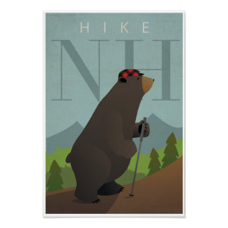Hike New Hampshire Poster