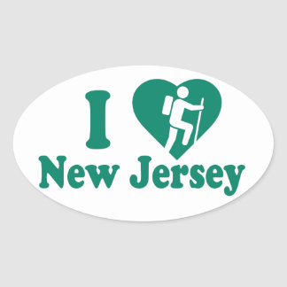 Hike New Jersey Oval Sticker