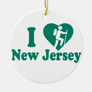 Hike New Jersey Round Ceramic Decoration