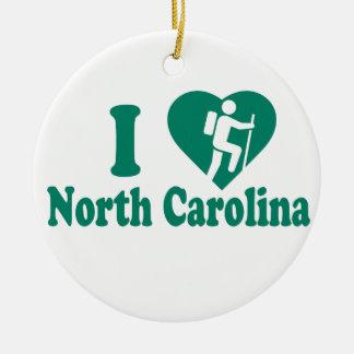 Hike North Carolina Ceramic Ornament