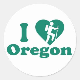Hike Oregon Classic Round Sticker