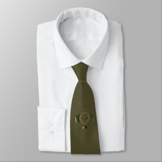 Hike Our Planet Hiker's Soul Compass on Olive Grn Tie