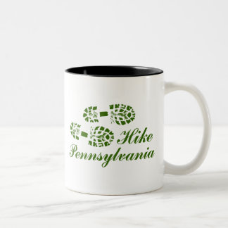 Hike PA Boots, Frilly Text Two-Tone Mug