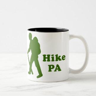 Hike PA Guy, Dark Green Two-Tone Coffee Mug