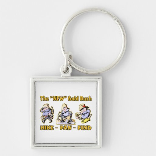 """""""Hike - Pan - Find"""" The """"NEW"""" Gold Rush Keychains"""