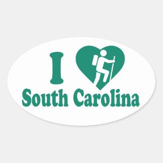 Hike South Carolina Oval Sticker