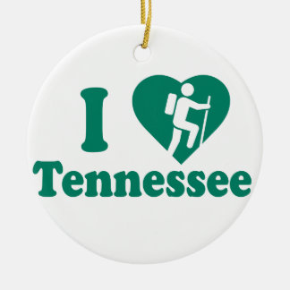 Hike Tennessee Ceramic Ornament