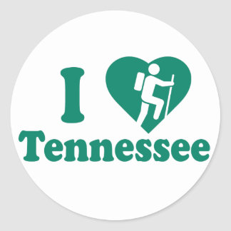 Hike Tennessee Classic Round Sticker