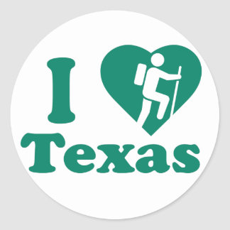 Hike Texas Classic Round Sticker