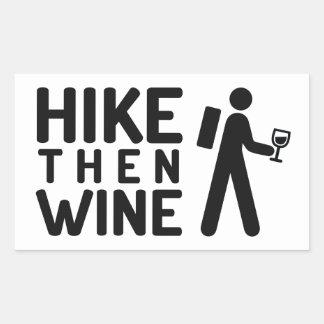 Hike then Wine Sticker