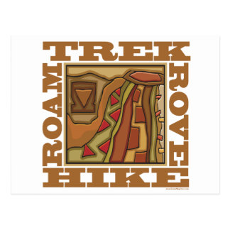 Hike, Trek Postcard
