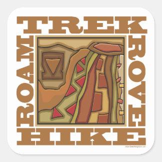 Hike, Trek Square Sticker