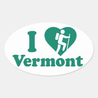 Hike Vermont Oval Sticker