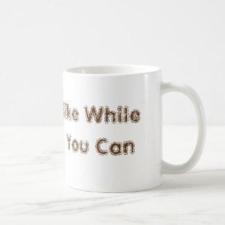 """Hike While You Can"" Hiking Adventure Unique Gift Basic White Mug"