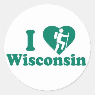 Hike Wisconsin Classic Round Sticker