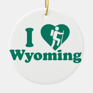 Hike Wyoming Ceramic Ornament