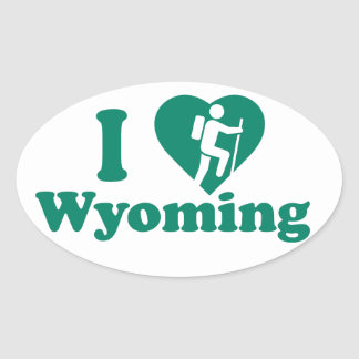 Hike Wyoming Oval Sticker