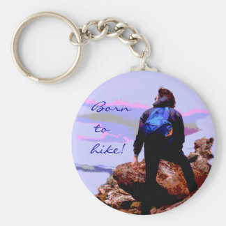 Hiker Basic Round Button Key Ring