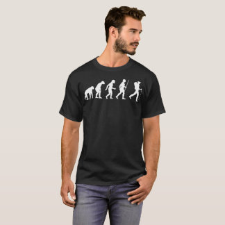 Hiker Hiking Outdoors Human Evolution Tshirt