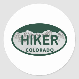 Hiker license oval classic round sticker