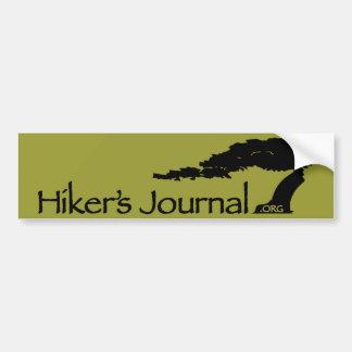 Hiker's Journal Bumper Sticker