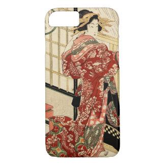Hikeyotsu no yoru no ame (Vintage Japanese print) iPhone 8/7 Case