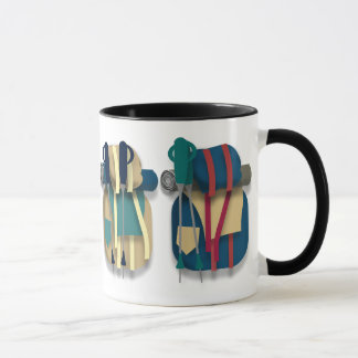 Hiking Backpacks, Bedrolls & Walking Sticks Mug